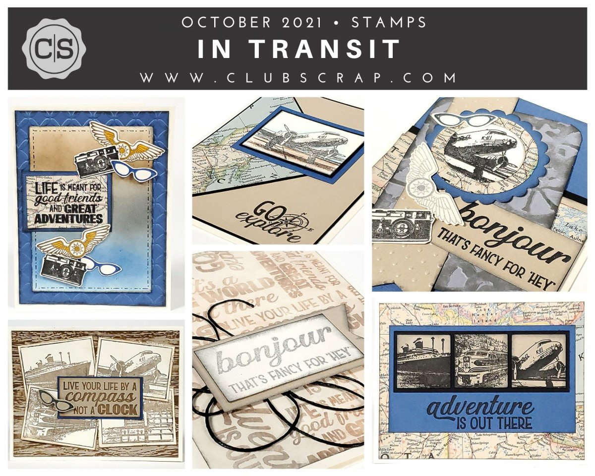 In Transit Spoiler - Stamps by Club Scrap #clubscrap