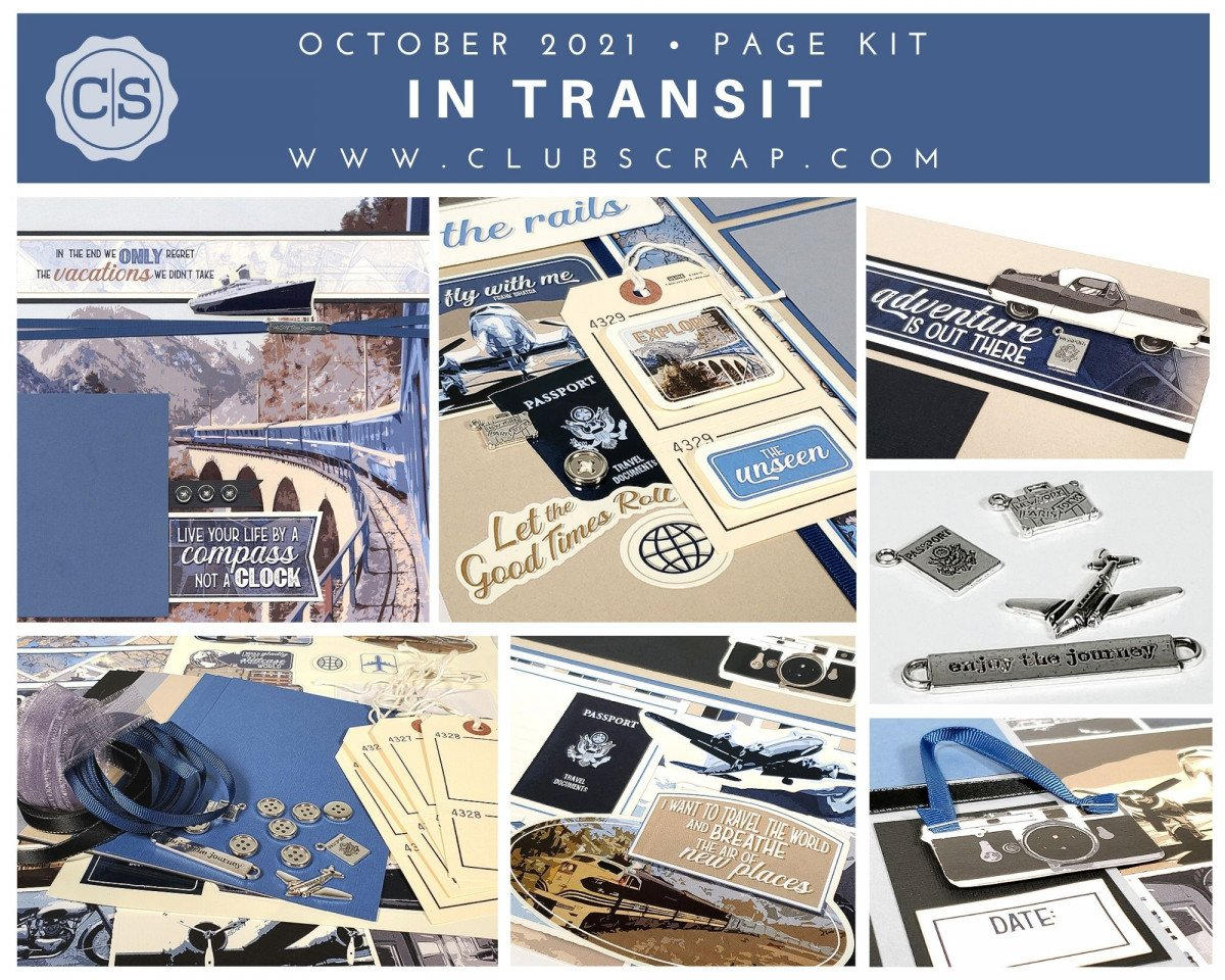 In Transit Spoiler - Page Kit by Club Scrap #clubscrap