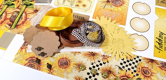 Sunflowers Page Kit - A doubly special release!