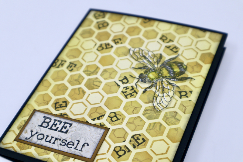 Floating Bee Card #clubscrap #stamping #bumblebee