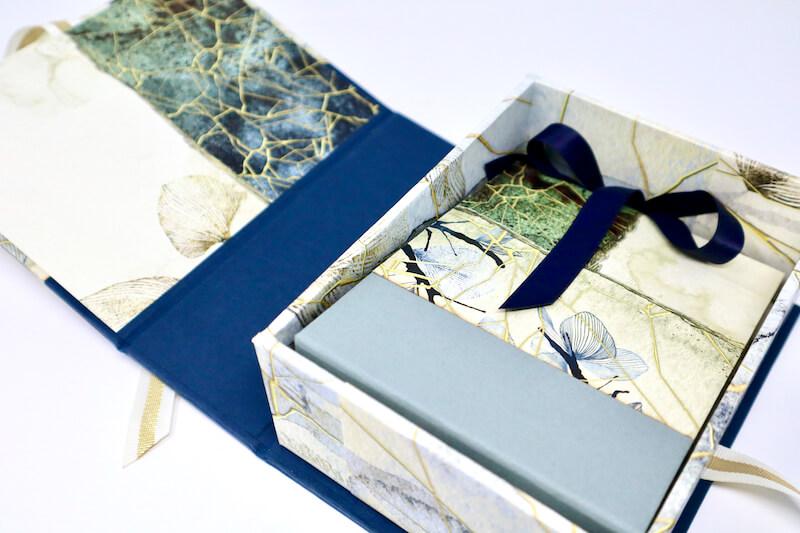 Kintsugi Drop Spine Box and Mini U-Hinge Book #clubscrap #minialbum #kintsugi