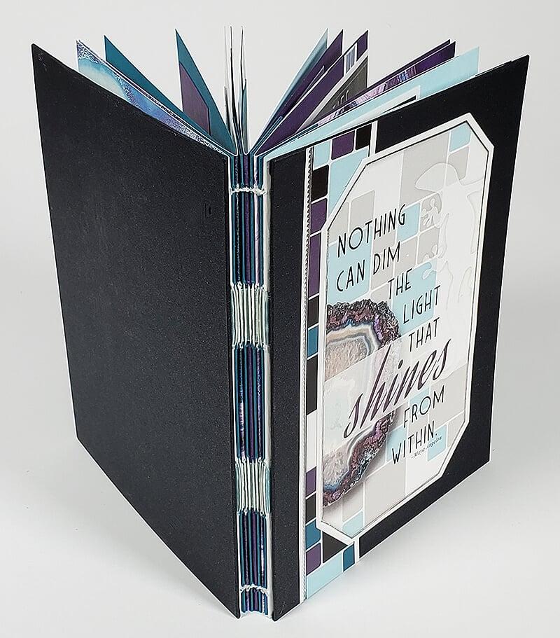 """6x8"""" Stitched Book by Club Scrap #clubscrap"""