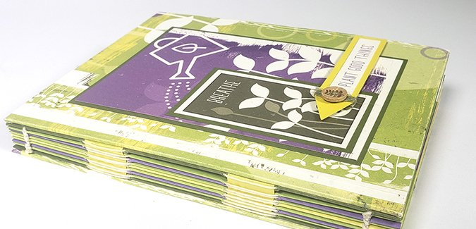 """6x8"""" Stitched Book - A Sprouts Garden Journal"""