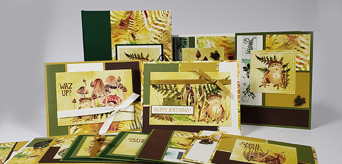 Forest Floor Remix cards in a matching keepsake box.