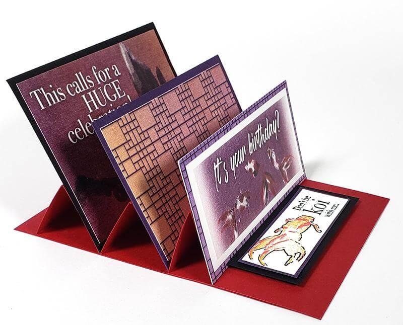 Shoji Triple Easel Cards