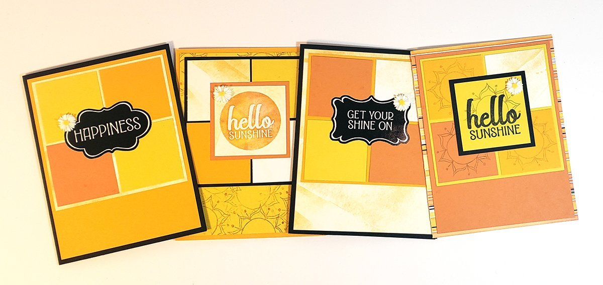 Make a set of sunshine-y collage cards.