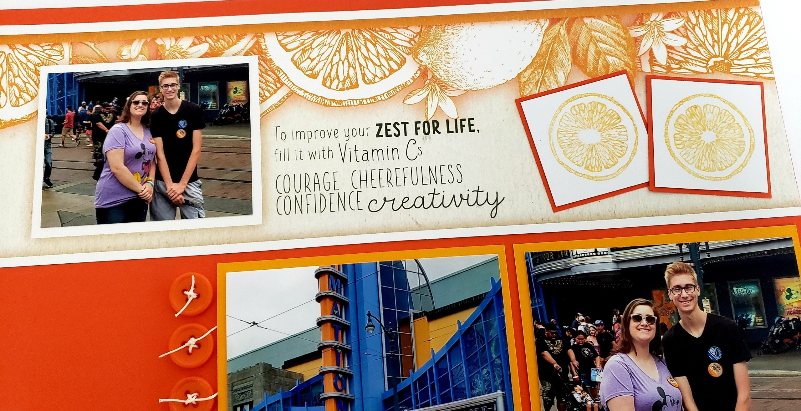 Zest for Life Layouts - Fresh & fun!