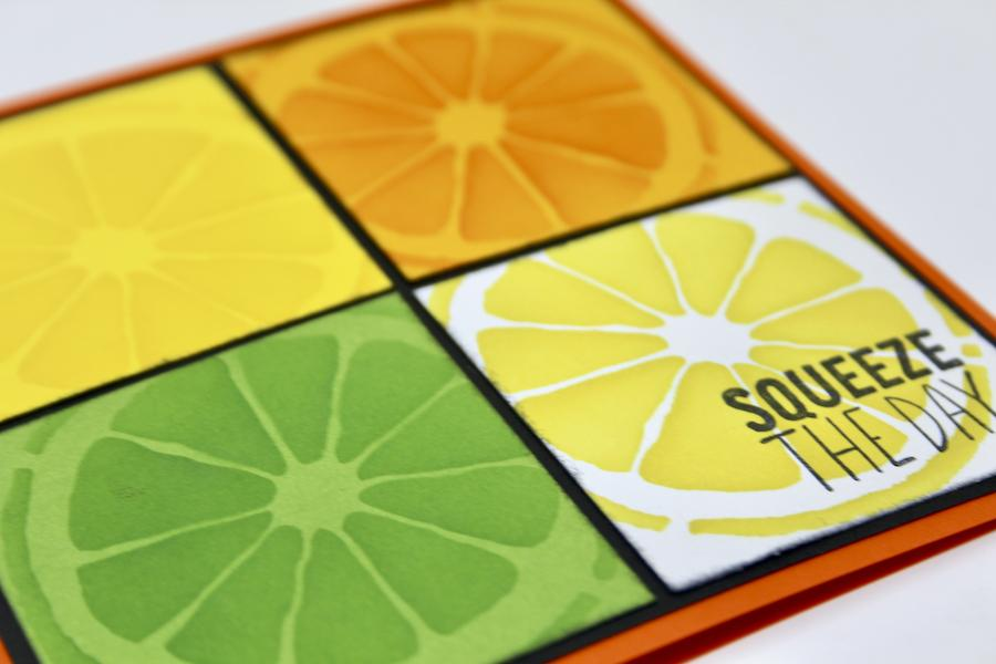 Stacked Squares Zest for Life cards