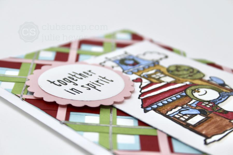 Paper Strips Plaid -Christmas In The Neighborhood card, Part One