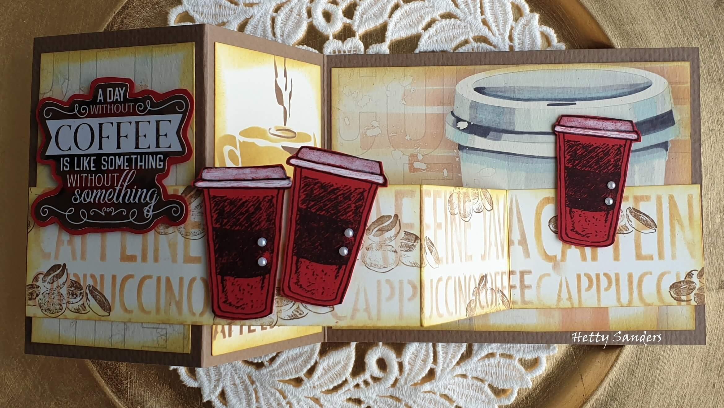 Coffee Christmas Cards by Hetty Sanders