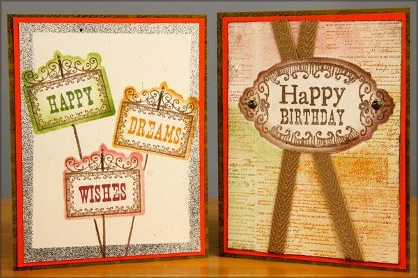 Stencil, Stamps and Cutaparts - So Happy Together
