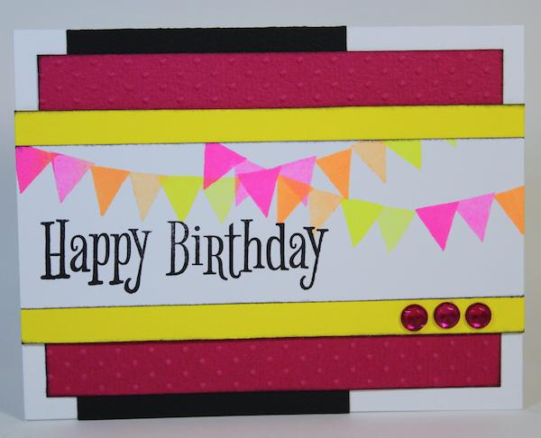 Banner Cards with Recycled UM Stamps