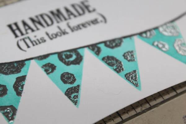 Stamped Stencil Technique