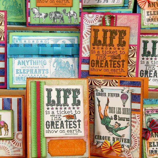 Big Top Club Stamp Cards