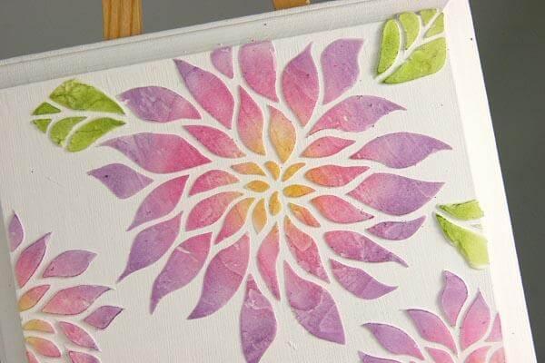 Dahlia Stencil Technique
