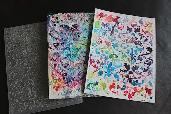 Color Burst Embossing Folder Technique