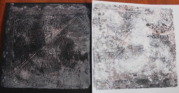 Gelli Plate Lace Art