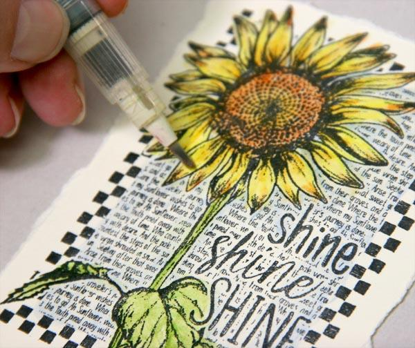 Sunflowers Stamping Techniques