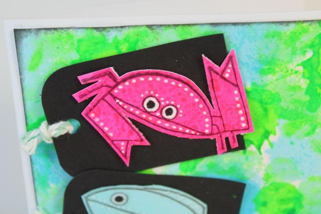 Neon Critters Card