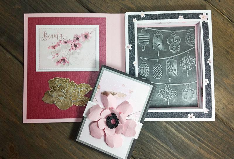 Cherry Blossoms Blog Hop & Linky Party--Accordion Book in a Book