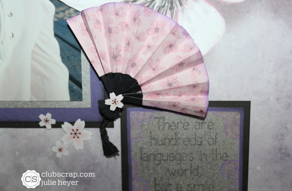 Paper Fan Tutorial with Cherry Blossoms Digital Hybrid
