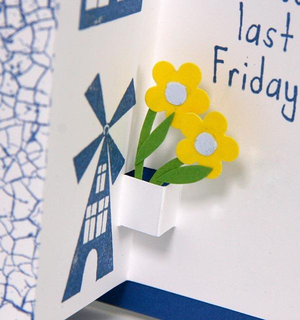 Interactive Pull & Pop-Up Delft Greeting Card Tutorial