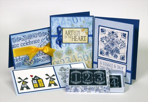 Card Making with Delft Stamps