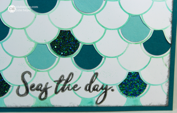 Mermaid Scales Card created with the Lite Stencil