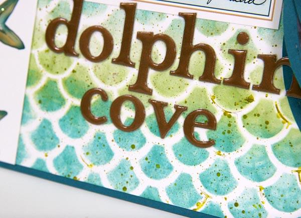 Create a beautiful Lagoon layout with the fish scale stencil!
