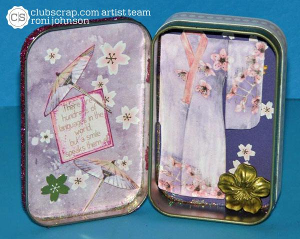 Altered Art--Cherry Blossoms Altered Tin