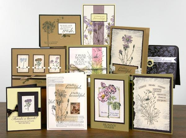 Vintage Botany Stamps - Gorgeous cards created by Kay!