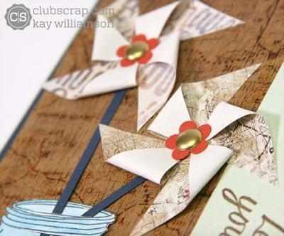 Pinwheel Card with the Adirondacks Quad Print