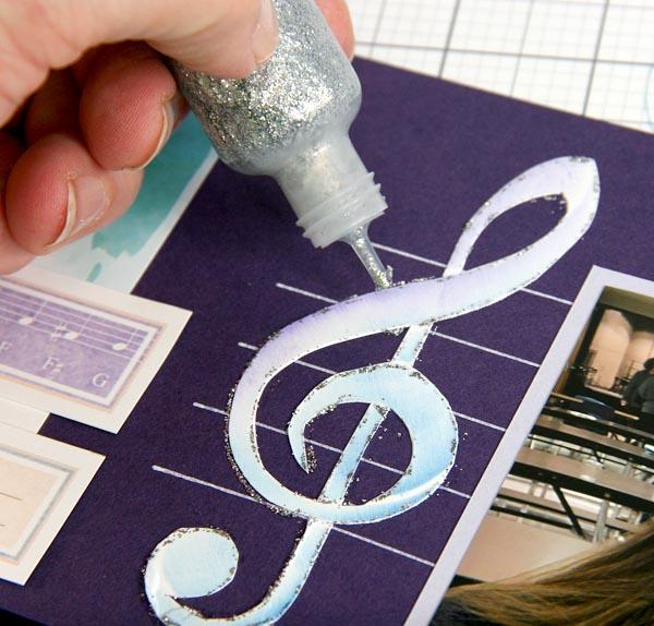 "Music Stencil layouts and card - Getting into ""treble"" with Kay!"