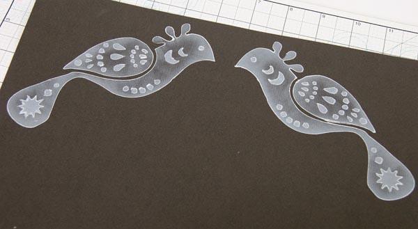 Bird Stencil Techniques - Scandinavia Lite Collection