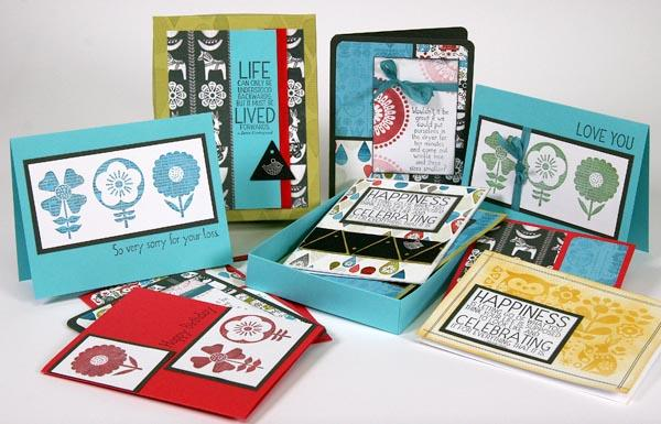 Scandinavia Cards and a box made with the Club Stamp kit