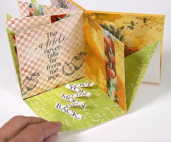 Folded Page Book with Orchard Quad Prints.