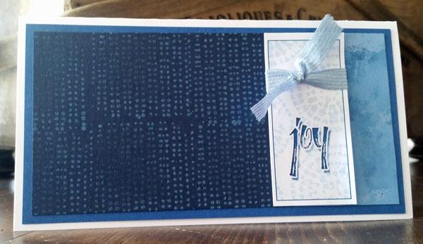 """Put your personal """"stamp"""" on the Shibori card kit."""