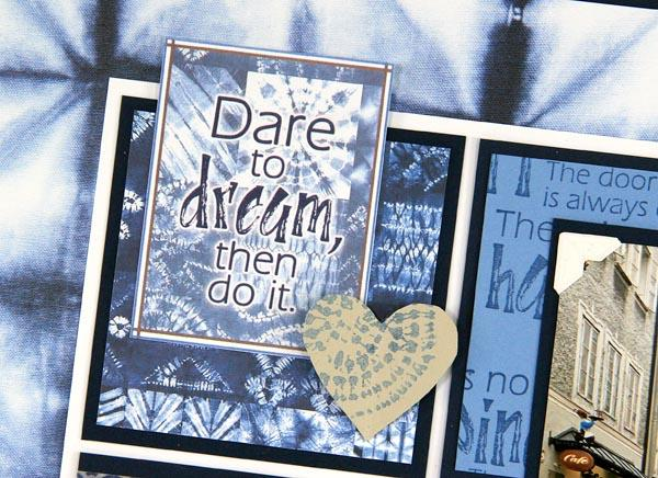Showing off with a Shibori Scrapbook Page!