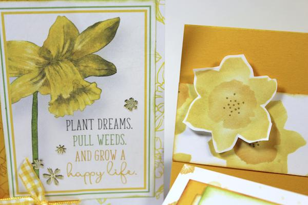 Monthly Challenges featuring the Daffodils kit.