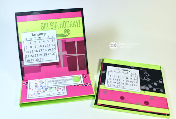 Easel Card Box Calendar with the Surprise collection.