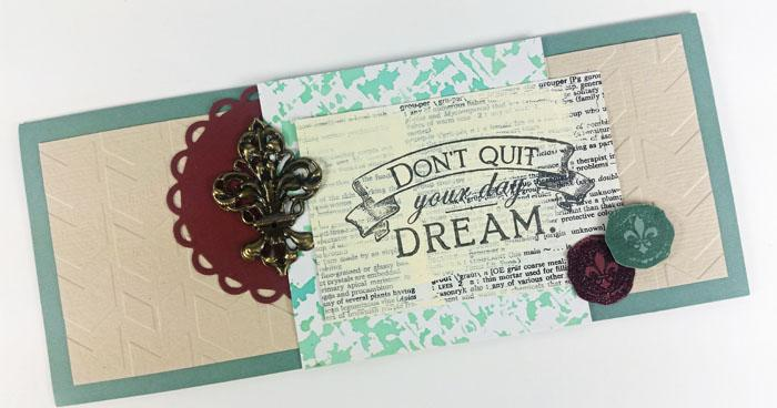 Add stamps to your card kit to create extra special greetings!