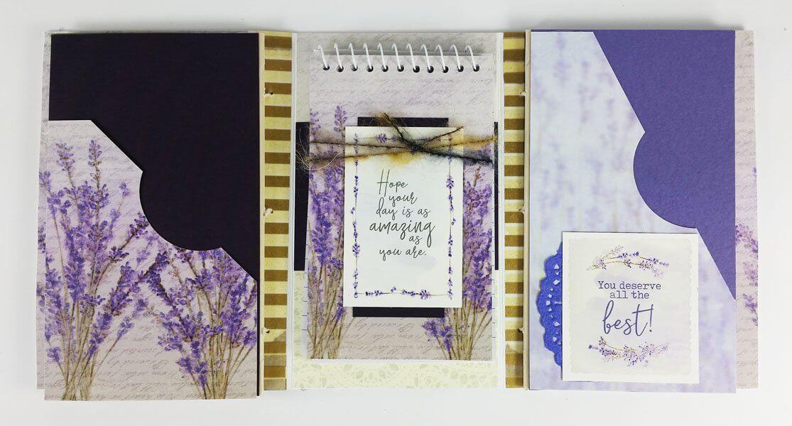 Trifold notebook folder by Lori Warren.