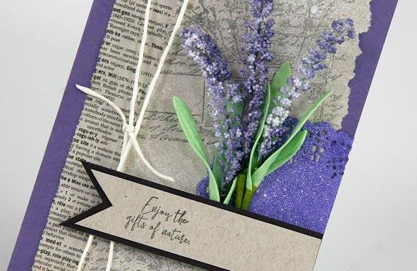 Lavender Fields stamps - Making cards with Kay