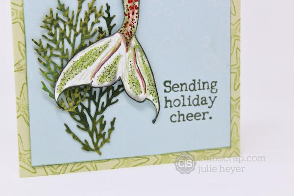 Mermaid Holiday Cards - a festive mash-up!