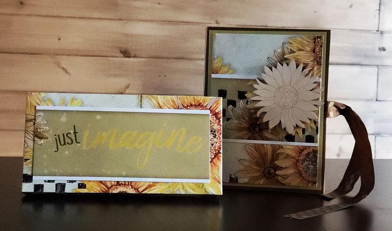 Make greeting card gifts with Sunflowers Remix.
