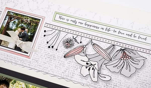 Beautiful Wedding pages with your Custom Colors
