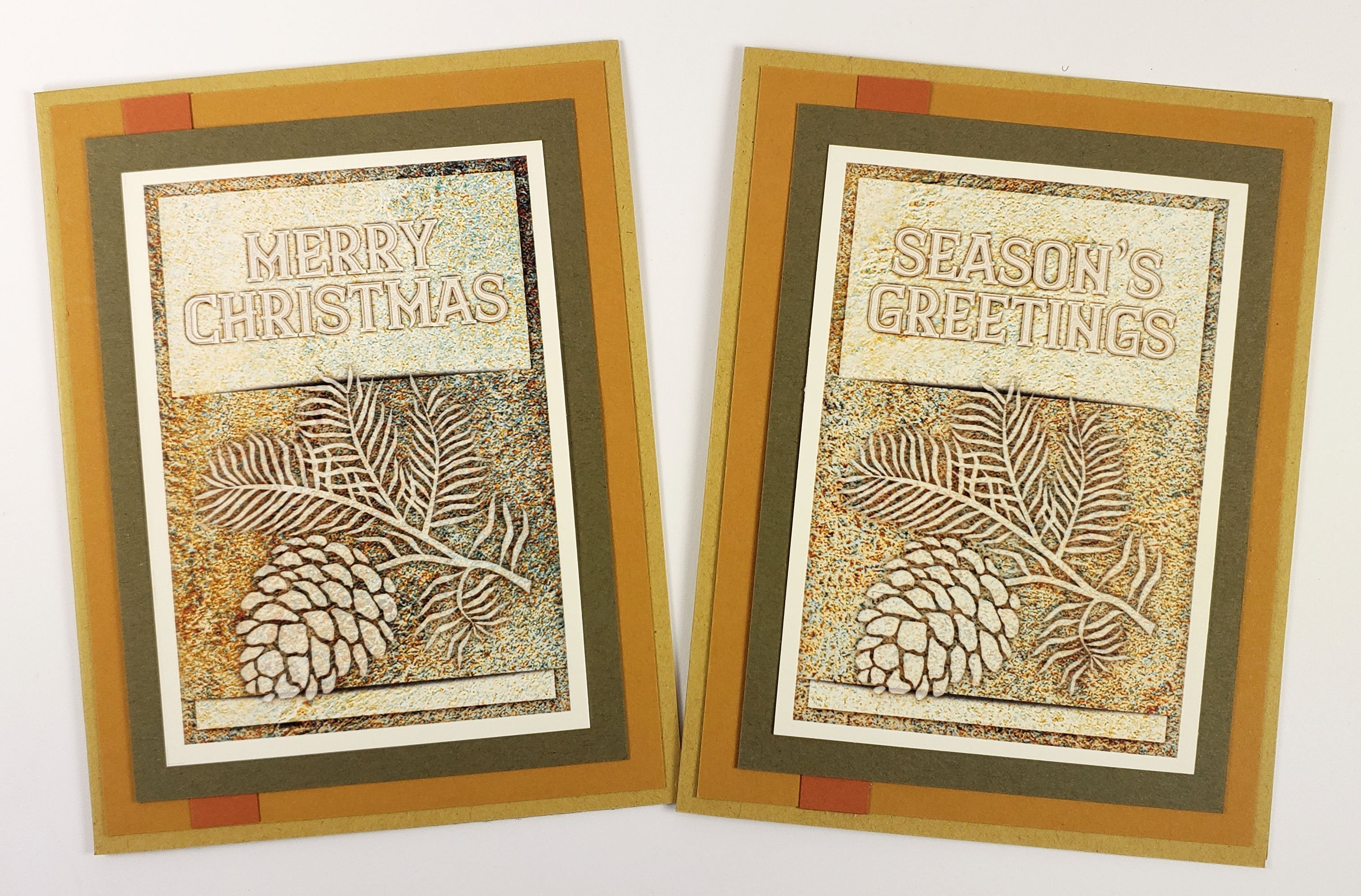 Lodge Christmas cards in non-traditional colors.
