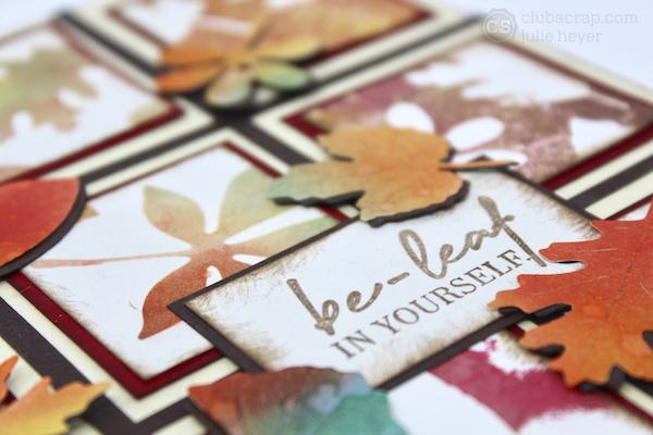 Five fabulous Techniques with the Falling Leaves Die Set!