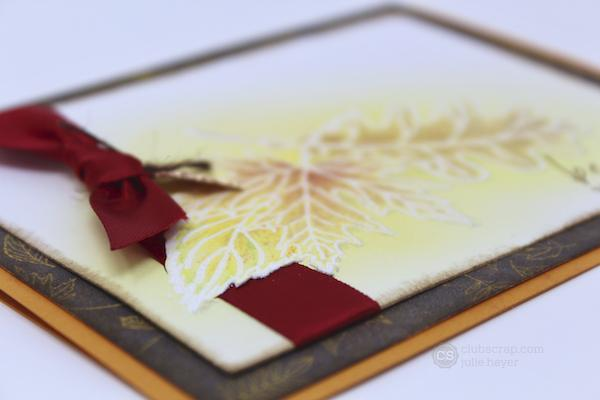 Hidden Ribbon Cards - Falling Leaves & In Bloom Stamps