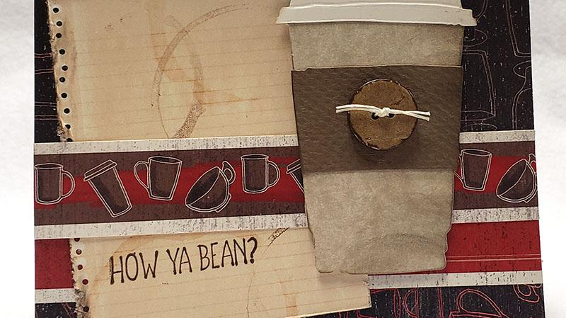 Coffeehouse Accordion Book with Greeting Card